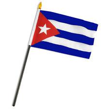"Cuba Cuban Flag 4""x6"" Desk Table Stick"