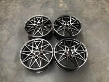 "19"" 666M Competition Style Wheels Gun Metal Machined E82 E87 F20 F21 1 2 Series"