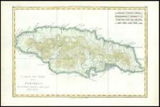 More details for 1780 original antique map of jamaica - l'isle de la jamaique by bonne (bmii/11)