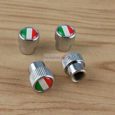 4pcs IT Italy Flag Chrome Metal Wheel Air Tyre Tire Valve Stems Caps Luxury Fiat