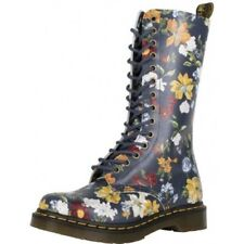 Dr Martens 1B99 14Eyelet Darcy Navy Floral Backhand straw grain *Choose Size*