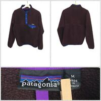 Patagonia Women's Retro Dark Purple Snap-T Fleece Jacket Pullover - Medium
