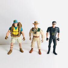 Jurassic Park Jp 1997 Ian Malcolm/Van Owen/Lote De Figuras De Juguete De Eddie Carr