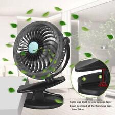 Car Portable Fan Rechargeable 360° Rotation Clip Mini USB Fan Car Desk Cooling