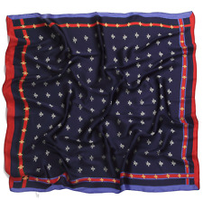 Designer Insipred Navy  Bee SILK SCARF NECKERCHIEF HEADSCARF