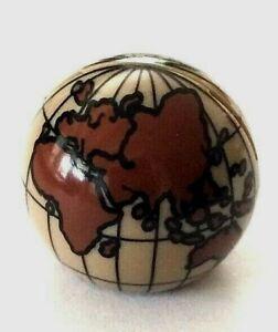 LEGO GLOBE ~ Earth Map World Planet Cylinder Hemisphere 2x2 pcs Dark Brown NEW