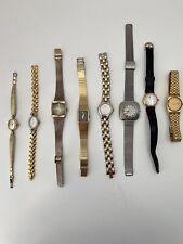 Lot Of 6 Vintage Womens Watches Hamilton Bulova Seiko Gruen Pasar Repair