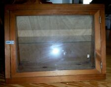 Wood And Glass Tabletop Upright Showcase With 1 Shelf Pick Up In Ma