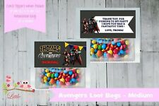 PERSONALISED party gifts school LOLLY BAG & TOPPER - AVENGERS HULK