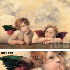 "42W""x30H"" ANGELI MADONNA by RAPHAEL RAFFAELLO SANZIO - POSING ANGELS CANVAS"