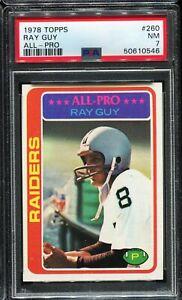 1978 Topps Football #260 RAY GUY Oakland Raiders PSA 7 NM