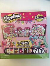 SHOPKINS (4) GAME  COLLECTOR'S EDITION Includes 8 Shopkins