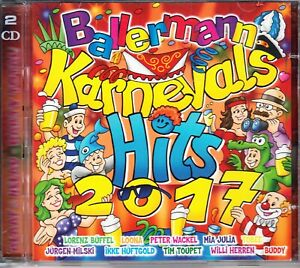 CD - Ballermann Karnevals Hits 2017 von Various Artists - DOPPEL-CD