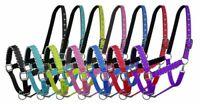 Showman Nylon Neoprene Lined Horse Halter w/ Rope Border Design