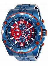 Invicta Marvel Spiderman Chronograph Red Dial Blue Tone Men's Watch 26771 SD