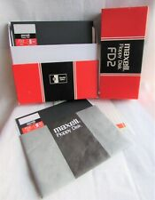 Maxell FD2-XD - 8 Inch Double Sided Floppy Disk - 9 disc in box - Open Unused