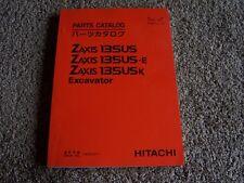 Hitachi Excavator Zaxis 135US 135US-E 135USK Parts Catalog Manual Manual 060001-