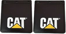 PAIR CATERPILLAR BLACK UTE MUDFLAPS 245x225mm; CAT MUD FLAP; MUDFLAP; 4x4; 4WD