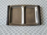 DENMARK Stainless Steel serving tray  and Teak  wood handles