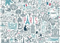 A4| Paris France Poster Print Size A4 Tour Travel France Poster Gift #14891