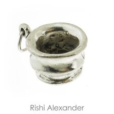 925 Sterling Silver Artisan Cup Charm Made in USA