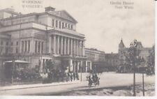 Ansichtskarte  Polen   Warschau  Großes Theater   1916  Feldpost