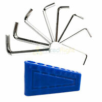 8 Piece Hex Key Set with Plastic Holder Sae Carbon Steel Allied Tools 65066