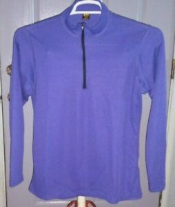 Women's  REI   1/4 zip   Running Athletic   polartec  pullover   top   Large