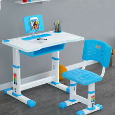 Height Adjustable Children Study Desk Table &Chair Drawing Set Bookstand desks