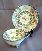 Vintage Elizabethan Fine Bone China Silver Anniv. Cup Saucer England