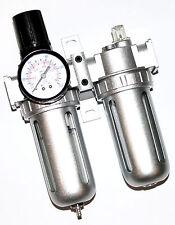 """AIR REGULATOR OIL WATER SEPARATOR 1/2"""" AIR FILTER WITH PRESSURE GAUGE AIR TOOLS"""