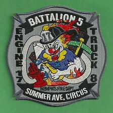 MEMPHIS TENNESSEE FIRE DEPARTMENT ENGINE 17 TRUCK 8 COMPANY PATCH CLOWN