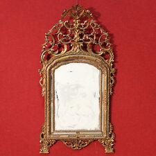 Specchiera torinese legno scolpito dorato stile antico 900 XX specchio cornice