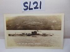 VINTAGE 1920'S US NAVY PICTURE POSTCARD SUBMARINE SUB S-27 AT LA HAINA HAWAII