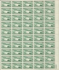 US Stamp - 1952 Grand Coulee Dam - 50 Stamp Sheet - Scott #1009