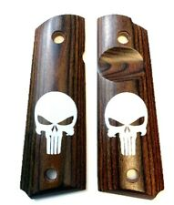 1911 Grips Rosewood Punisher fits Colt Rock Island Springfield & Clones #1