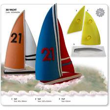 JEM Set of 3 3D YACHT Boat Skipper Sail Icing Cutters Sugarcraft Cake Decoration