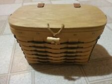 Longaberger 1998 Heartland Collection Small Purse Basket 10839 Blue Accent