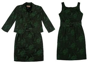 Phase Eight Black Green Floral Jacquard Dress Jacket Wedding Occasion Outfit 12