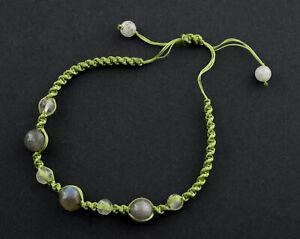Bracelet Macrame Labradorite Stone Natural Creation Hand Made 21278