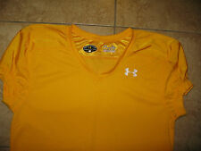 Under Armour Mens Football Heat Gear Loose Fit Training S/S Shirt Yellow Xl