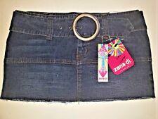 Zana Di Jeans Stretch Mini Skirt with Removable Belt -Style #JK0396RC4 - Size 11