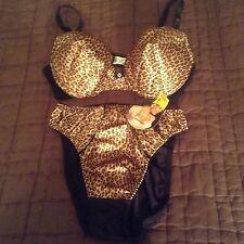 Felina Padded Bra/ Panty Set NEW: 34C/MEDIUM PANTIES (Tags on Panties)