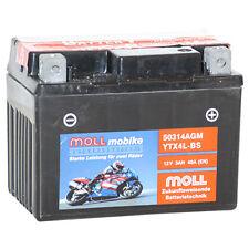 50314 Moll mobike AGM Motorradbatterie YTX4L-BS 12 V 3Ah 40A 503014004 *NEU*