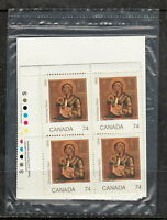 CANADA #1224 74¢ Christmas Madonna and Child Sealed Plate Blocks MNH