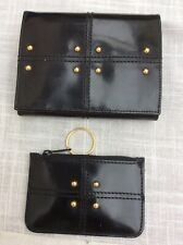 Jaeger Black Patent Leather Purse And Key Case