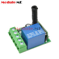 1 Channel Receiver Wireless Relay RF Remote Control Switch Module 12V 433MHZ