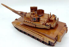 M1A1 Abrams M1 Tusk 2 Tank Model Model Wood Mahogany