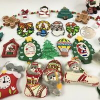 Large Lot of Homemade Christmas Tree Ornaments CottageCore Eclectic