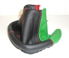 FIAT PANDA 319 dal 2012 + GEAR GAITER a BLACK LEATHER + SEWING RED